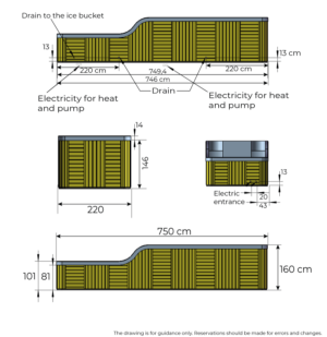 Sea View drawing with dimensions