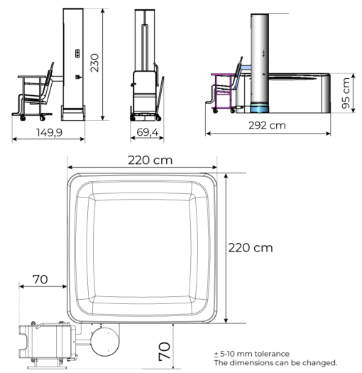 Gravity drawing and dimensions