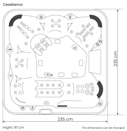 Casablanca dimensions
