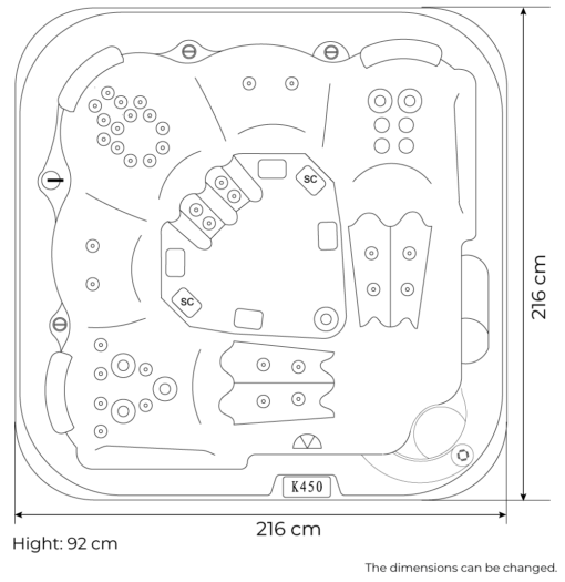 Vulcano dimensions