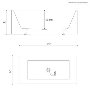 Ydernæs dimension 170 cm
