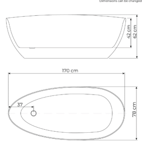 dimensiones de bañera Rømø