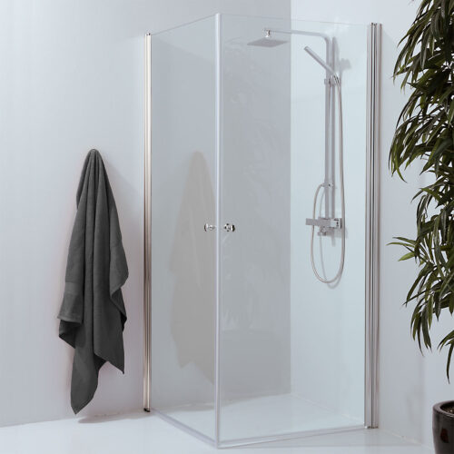Corner shower clear glass