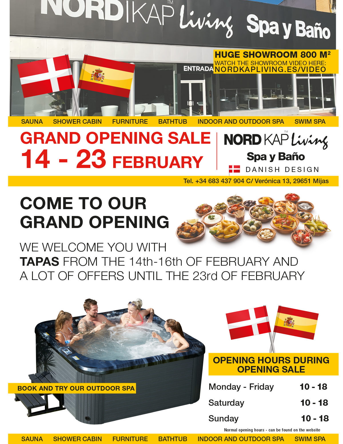 Opening sale with tapas